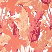 Thibaut Travelers Palm Pink and coral