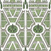 Anna French Aerial Garden Green Tapet