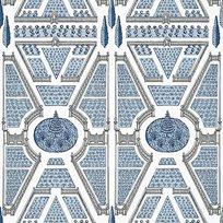 Anna French Aerial Garden Blue Tapet