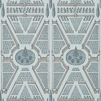Anna French Aerial Garden Spa blue Tapet