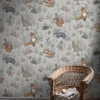 Boråstapeter Forest Friends Mural Tapet