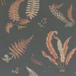 Baker Ferns, Coral /Charcoal Tapet