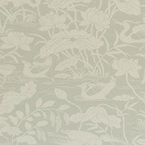 Baker Heron & Lotus Flower, Aqua Tapet