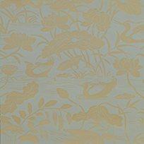 Baker Heron & Lotus Flower, Eucalyptus Tapet