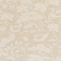 Baker Heron & Lotus Flower, Stone Tapet