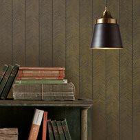 Baker Herringbone, Charcoal / Bronze Tapet