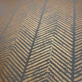 Baker Herringbone, Charcoal / Bronze