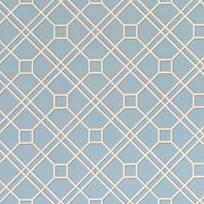 Baker Langdale Trellis, Soft Blue Tapet
