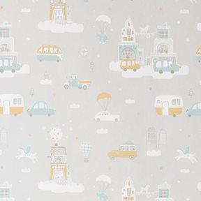 Majvillan Above the clouds Soft grey Tapet