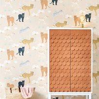 Majvillan Black panther Creamy orange Tapet