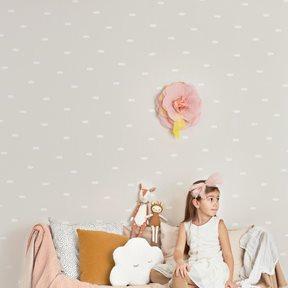 Majvillan Dreamy clouds Dreamy pink Tapet
