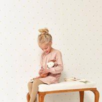 Majvillan Holly White/Gold Tapet
