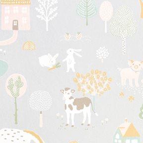 Majvillan My farm Soft grey Tapet