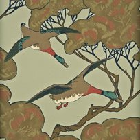 Mulberry Flying Ducks Tapet