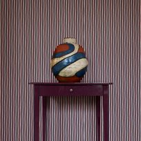 Helene Blanche Painted stripe Orange Noir