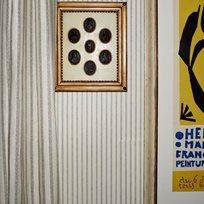 Helene Blanche Small Polka Stripe Creme Noir Tapet
