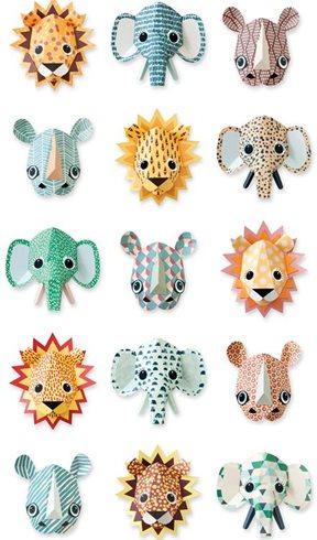 Studio Ditte Wild animals Cool Tapet