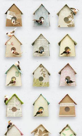 Studio Ditte Birdhouse Tapet