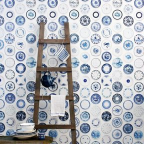 Studio Ditte Porcelain Blue plates Tapet