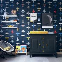 Studio Ditte Airplanes dark Tapet