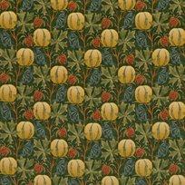 Baker Pumpkins velvet, Green /Terracotta Tyg