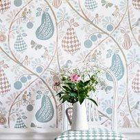 Littlephant Fruit Garden White Pastel Tapet