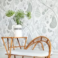 Littlephant Fruit Garden White Green Tapet