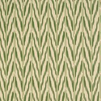 Helene Blanche Printed Ikat, Green Earth