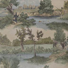 Lewis & Wood Fly Fishing Tapet
