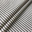 Ian Mankin Ticking Stripe 01 Black Tyg