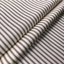 Ian Mankin Ticking Stripe 01 Brown Tyg