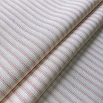 Ian Mankin Ticking Stripe 01 Pink
