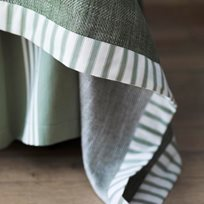 Ian Mankin Ticking Stripe 2 Sage