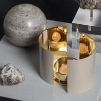 Skultuna Infinity ljushållare, stor beige Ljusstake