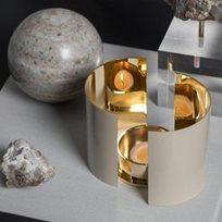 Skultuna Infinity ljushållare, stor beige