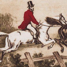 Lewis & Wood Hunting Scenes Tyg