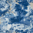 Thibaut Lincoln Toile Blue and flax