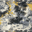 Thibaut Lincoln Toile Yellow and Grey