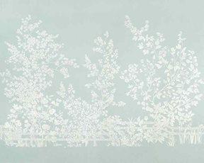 Thibaut Villa Garden Mural Robin´s egg Tapet