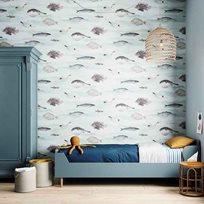 Sian Zeng Fish blue Tapet