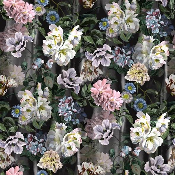 Designers Guild Delft flower Grande Graphite Tapet