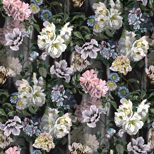 Designers Guild Delft flower Grande Graphite