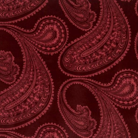 Cole & Son Rajapur, Rose on Dark Crimson Tyg