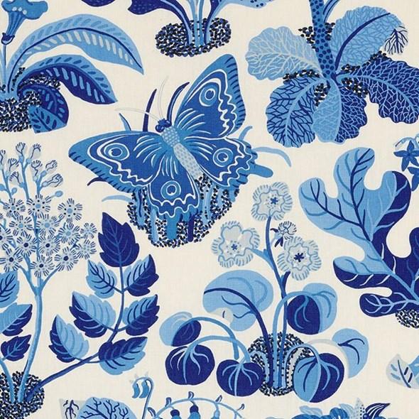 Josef Frank Exotic Butterfly, Marine Tyg