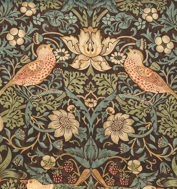 William Morris & co Strawberry Thief Tyg