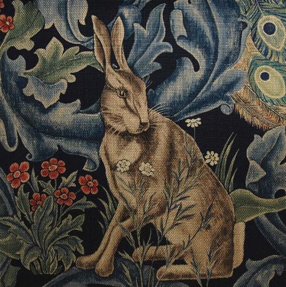 William Morris & co Forest Indigo Tyg