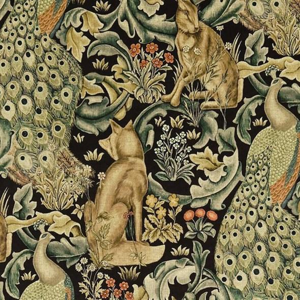 William Morris & co Forest Velvet Charcoal
