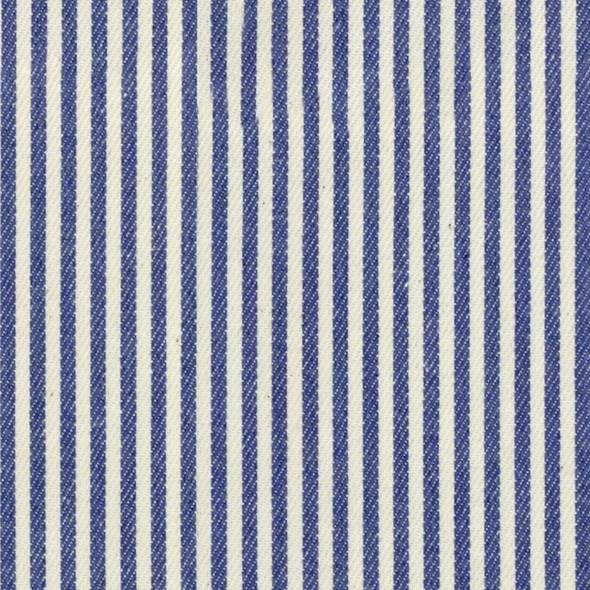 Ian Mankin Candy Stripe Indigo