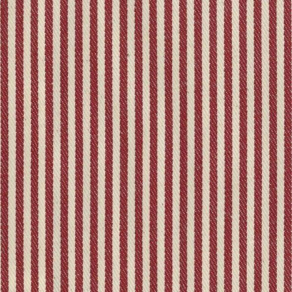 Ian Mankin Candy Stripe Peony Tyg