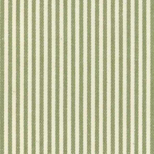 Ian Mankin Candy Stripe Sage Tyg